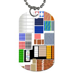 Texture Package Dog Tag (two Sides) by Nexatart