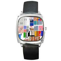 Texture Package Square Metal Watch