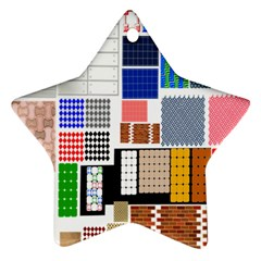 Texture Package Star Ornament (two Sides)