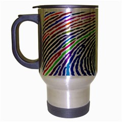 Prismatic Fingerprint Travel Mug (silver Gray) by Nexatart