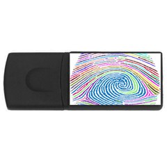 Prismatic Fingerprint Usb Flash Drive Rectangular (4 Gb) by Nexatart