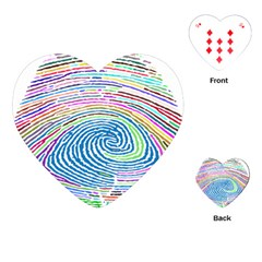 Prismatic Fingerprint Playing Cards (heart)