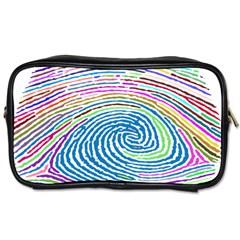 Prismatic Fingerprint Toiletries Bags