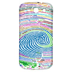Prismatic Fingerprint Samsung Galaxy S3 S Iii Classic Hardshell Back Case by Nexatart