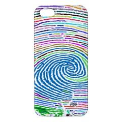 Prismatic Fingerprint Apple Iphone 5 Premium Hardshell Case by Nexatart