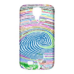 Prismatic Fingerprint Samsung Galaxy S4 Classic Hardshell Case (pc+silicone) by Nexatart