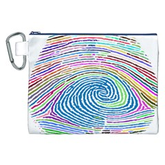 Prismatic Fingerprint Canvas Cosmetic Bag (xxl)