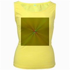 Square Rainbow Women s Yellow Tank Top