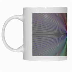 Square Rainbow White Mugs