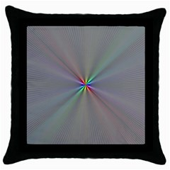 Square Rainbow Throw Pillow Case (black)