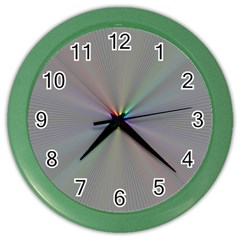 Square Rainbow Color Wall Clocks by Nexatart