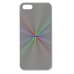 Square Rainbow Apple Seamless Iphone 5 Case (clear)