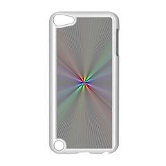 Square Rainbow Apple Ipod Touch 5 Case (white) by Nexatart