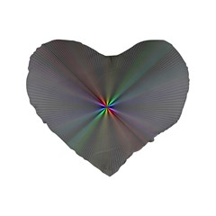 Square Rainbow Standard 16  Premium Heart Shape Cushions