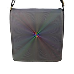 Square Rainbow Flap Messenger Bag (l)  by Nexatart