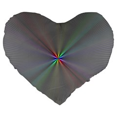 Square Rainbow Large 19  Premium Flano Heart Shape Cushions by Nexatart