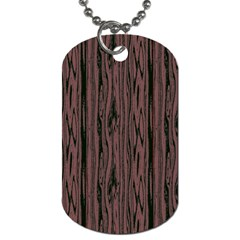 Grain Woody Texture Seamless Pattern Dog Tag (two Sides) by Nexatart