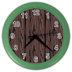 Grain Woody Texture Seamless Pattern Color Wall Clocks