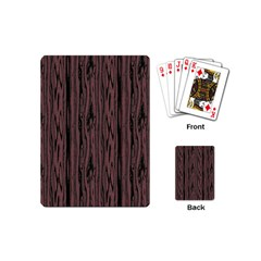 Grain Woody Texture Seamless Pattern Playing Cards (mini)