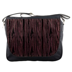 Grain Woody Texture Seamless Pattern Messenger Bags
