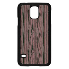Grain Woody Texture Seamless Pattern Samsung Galaxy S5 Case (black)