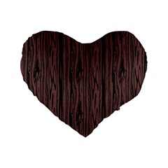 Grain Woody Texture Seamless Pattern Standard 16  Premium Flano Heart Shape Cushions by Nexatart