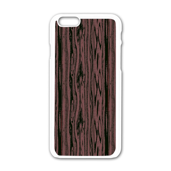 Grain Woody Texture Seamless Pattern Apple iPhone 6/6S White Enamel Case