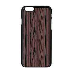 Grain Woody Texture Seamless Pattern Apple Iphone 6/6s Black Enamel Case