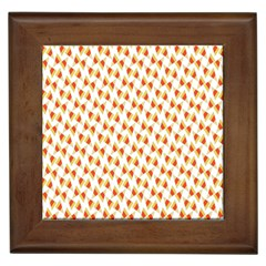 Candy Corn Seamless Pattern Framed Tiles