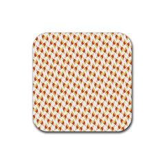 Candy Corn Seamless Pattern Rubber Square Coaster (4 Pack)  by Nexatart