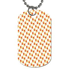 Candy Corn Seamless Pattern Dog Tag (two Sides) by Nexatart