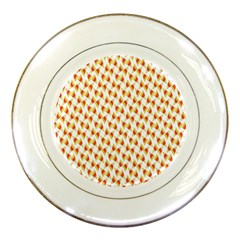 Candy Corn Seamless Pattern Porcelain Plates by Nexatart