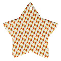 Candy Corn Seamless Pattern Star Ornament (two Sides)