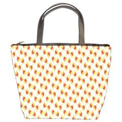 Candy Corn Seamless Pattern Bucket Bags by Nexatart