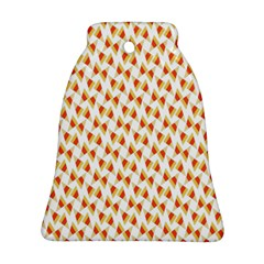Candy Corn Seamless Pattern Bell Ornament (two Sides)