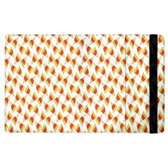 Candy Corn Seamless Pattern Apple Ipad 2 Flip Case by Nexatart