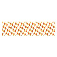 Candy Corn Seamless Pattern Satin Scarf (oblong)