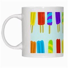 Popsicle Pattern White Mugs by Nexatart