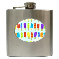 Popsicle Pattern Hip Flask (6 Oz)