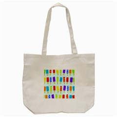 Popsicle Pattern Tote Bag (cream)