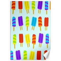 Popsicle Pattern Canvas 12  X 18   by Nexatart
