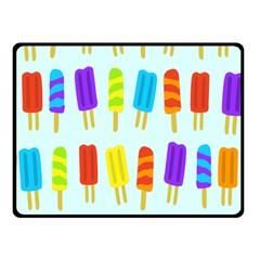 Popsicle Pattern Fleece Blanket (small)