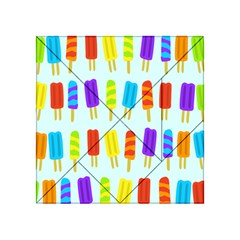 Popsicle Pattern Acrylic Tangram Puzzle (4  X 4 )