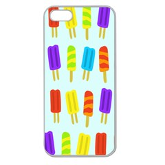 Popsicle Pattern Apple Seamless Iphone 5 Case (clear)
