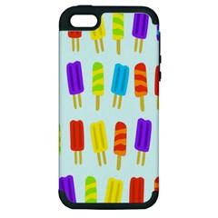 Popsicle Pattern Apple Iphone 5 Hardshell Case (pc+silicone) by Nexatart