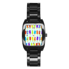 Popsicle Pattern Stainless Steel Barrel Watch by Nexatart