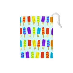 Popsicle Pattern Drawstring Pouches (small)  by Nexatart
