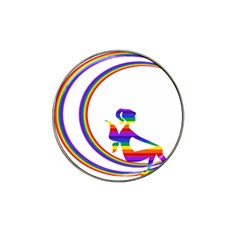 Rainbow Fairy Relaxing On The Rainbow Crescent Moon Hat Clip Ball Marker (4 Pack) by Nexatart
