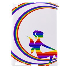 Rainbow Fairy Relaxing On The Rainbow Crescent Moon Apple Ipad 3/4 Hardshell Case (compatible With Smart Cover)