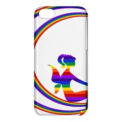 Rainbow Fairy Relaxing On The Rainbow Crescent Moon Apple Iphone 5c Hardshell Case